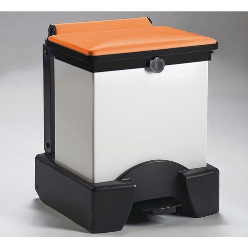 30 Litre All Plastic Removable Body Fire Retardant Sack Holder Orange Lid