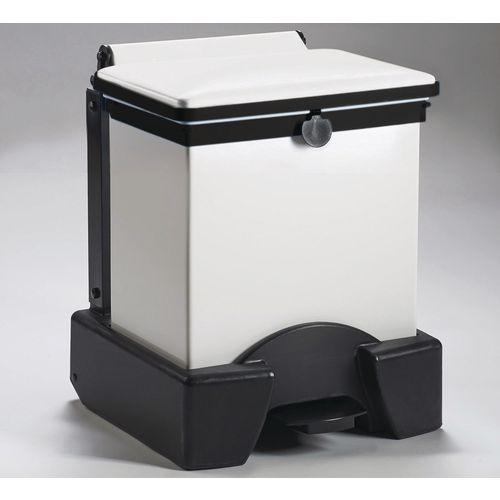 30 Litre All Plastic Removable Body Fire Retardant Sack Holder White Lid