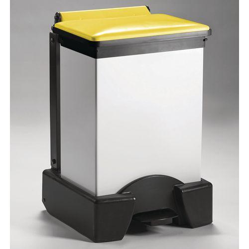 45 Litre All Plastic Removable Body Fire Retardant Sack Holder Yellow Lid