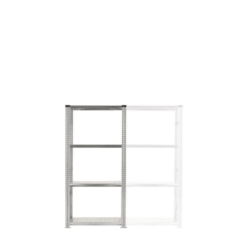 Zinc Plated Boltless Steel Shortspan Shelving Starter Bay HxWxD 2000x900x500mm - 4 Shelf Levels, 185kg Shelf Capacity