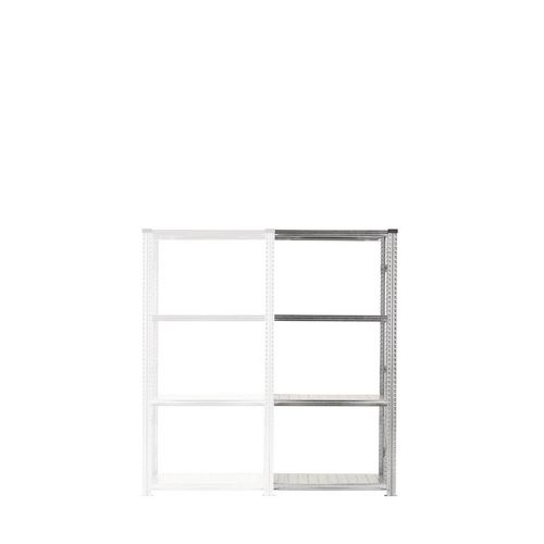 Zinc Plated Boltless Steel Shortspan Shelving Add-On Bay HxWxD 2000x900x500mm - 4 Shelf Levels, 185kg Shelf Capacity