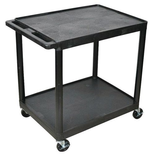 Plastic Trolley With 2 Flat Shelves