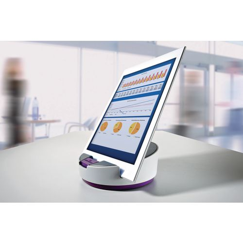 Durable Varicolor Smart Office Tablet Base Purple