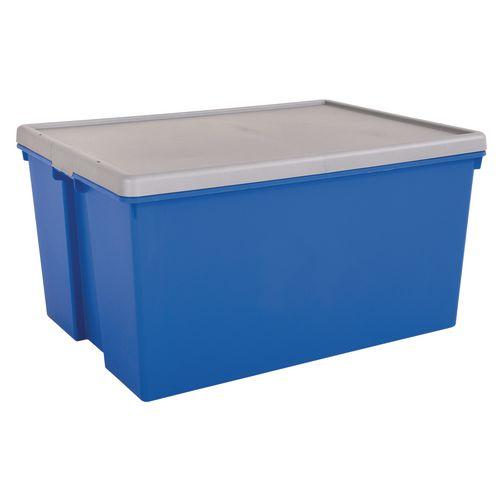Wham Bam 150L Heavy Duty Box &Lid Blue/Silver