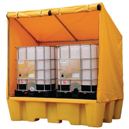 Double Ibc Spill Pallet With Framed Cover (Self Assembly)