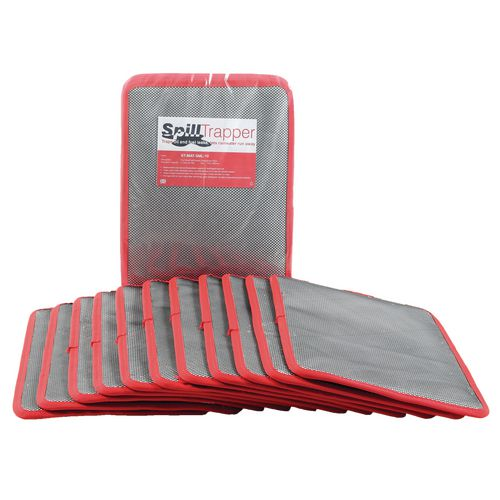Box Of Ten Small Spilltrapper Replacement Mats