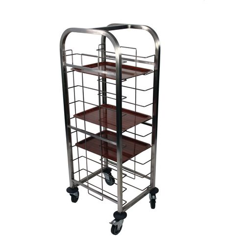 Tct1/10-S Single Column 10 Level Tray Clearing Trolley Stainless Steel