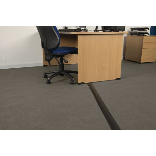 Medium Duty Linkable Floor Cable Cover Black 68mm Wide 9M Length