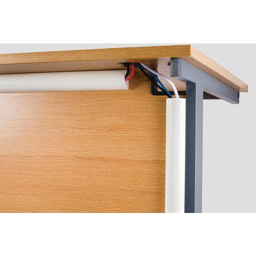 2X 1.5M 50X25mm White Desk Trunking