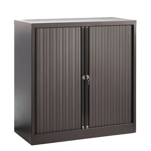 Cupboard Tambour Side Opening Medium Hxwxd: 1651X1000X470mm Black