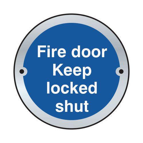 Fire Door Keep Locked Shut Door Disc Saa (75mm Dia.)