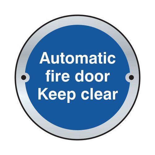 Automatic Fire Door Keep Clear Door Disc Saa (75mm Dia.)