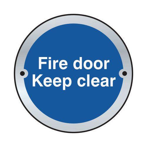 Fire Door Keep Clear Door Disc Saa (75mm Dia.)
