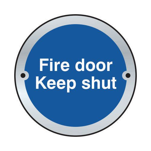 Fire Door Keep Shut Door Disc Saa (75mm Dia.)