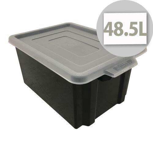 Black Storemaster Jumbo Crate Capacity 48.5 Litres