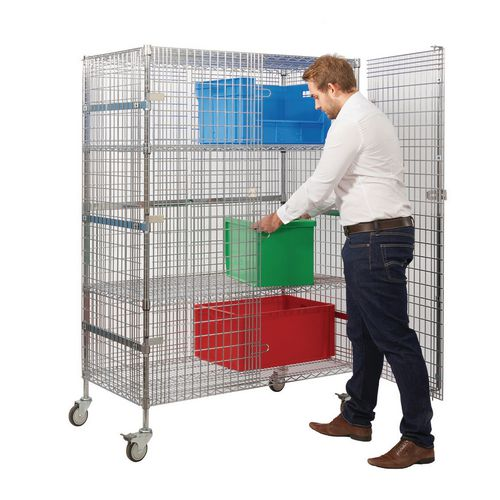 Wire Shelf Security Trolley Large