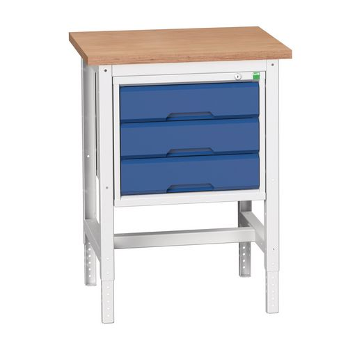 Static Workstand With 3 Drawer HxWxD: 780x600x600
