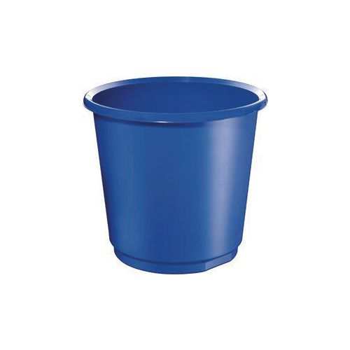 18 Litre Blue Plastic Wastebaskets X 4
