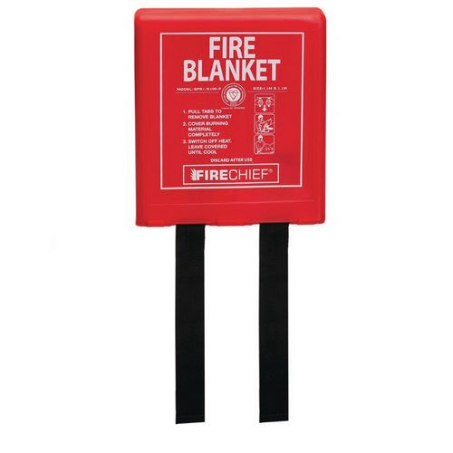 1.1Mx1.1M Fire Blanket Rigid Case Firechief