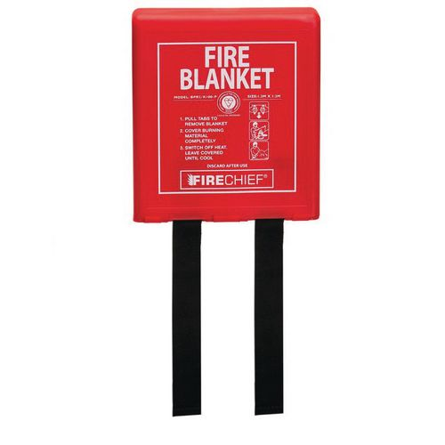 1.2Mx1.2M Fire Blanket Rigid Case Firechief