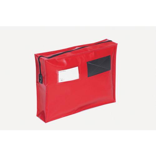 Long Zip Flat Pouch Red 406x305mm