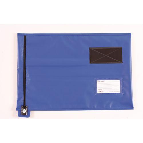 Short Zip Flat Pouch Blue 470x355mm