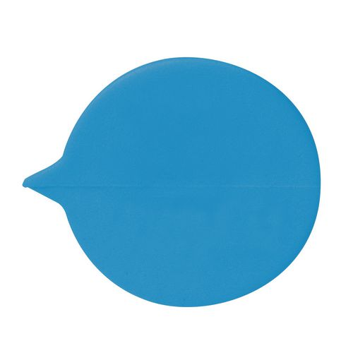 Blue Plain Round Seals Pack Of 500