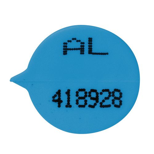 Blue Numbered Round Seals Pack Of 500