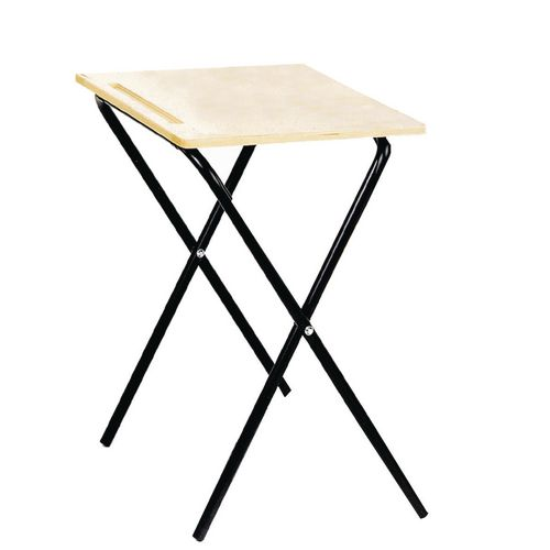 Set Of 4xExam Table Folding  Beech Top/Black Leg