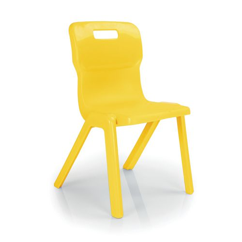 One Piece Chair Size 1 Set Of 4 Chairs Yellow