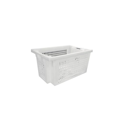 White Perforated 180* Stack And Nest Container 600x400x300mm