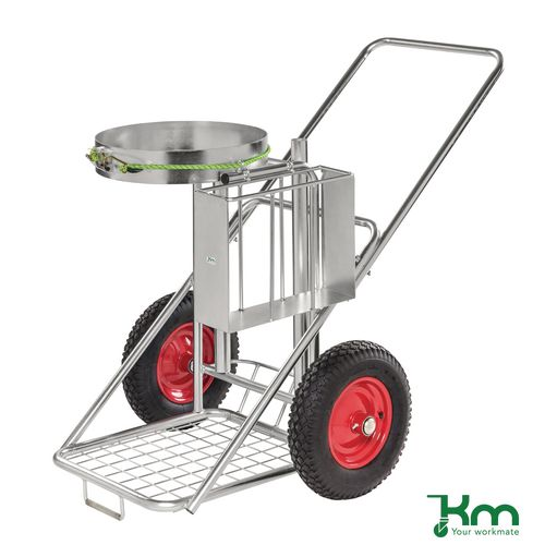 Street Orderly Trolley Electro Galvanised Finish. L X W X H 1200 X 820 X 1070mm. Capacity 150Kg