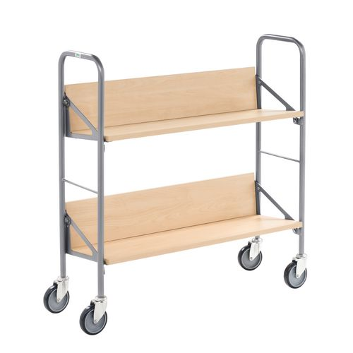 Archive/Book Trolley With Beech Shelves. LxWxH 900x300x920mm
