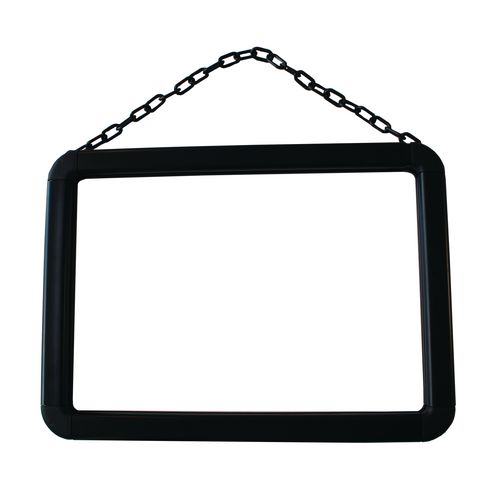 A4 Frame For Chain Post Black -