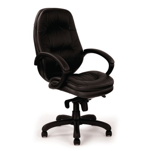 Brighton Black Leather Faced Managers Chair