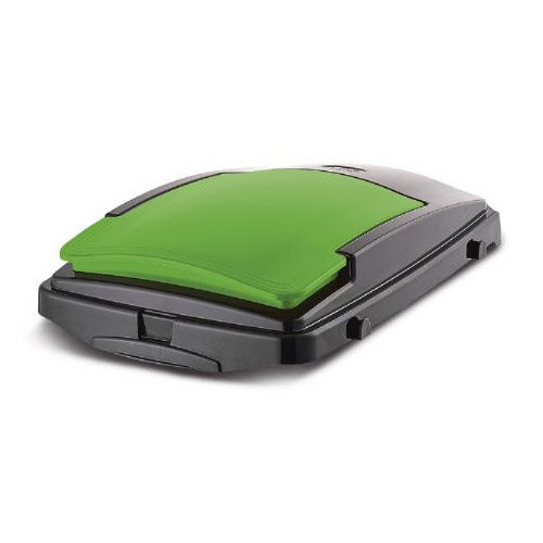 Lift Up Lid For 40L Recycling Bin - Green