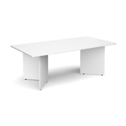 Rectangular Arrow Leg Boardroom Table HxWxD 725x2000x1000mm White