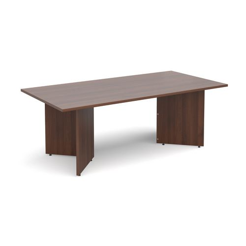 Rectangular Arrow Leg Boardroom Table HxWxD 725x2000x1000mm Walnut