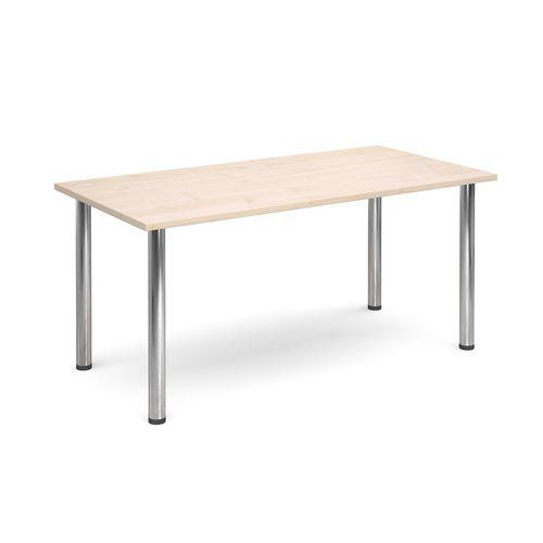 Rectangular Chrome Leg Flexi-Table Maple H:725 W:1600 D:800