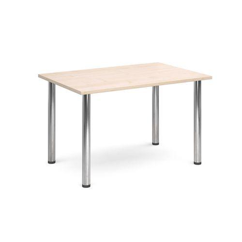 Rectangular Chrome Leg Flexi-Table Maple H:725 W:1300 D:800