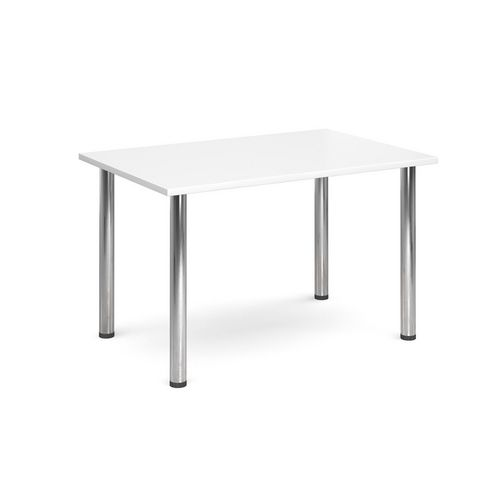 Rectangular Chrome Leg Flexi-Table White H:725 W:1300 D:800