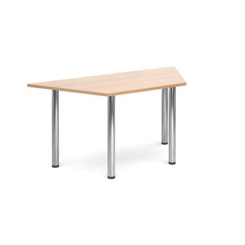 Trapezoidal Chrome Leg Flexi-Table Beech H:725 W:1600 D:800