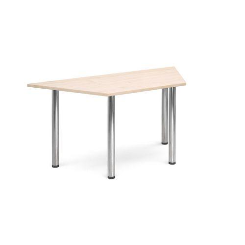 Trapezoidal Chrome Leg Flexi-Table Maple H:725 W:1600 D:800