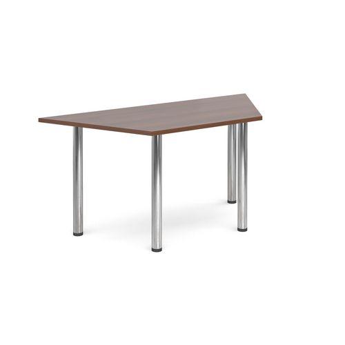 Trapezoidal Chrome Leg Flexi-Table Walnut H:725 W:1600 D:800