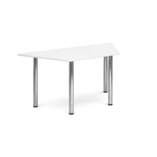 Trapezoidal Chrome Leg Flexi-Table White H:725 W:1600 D:800