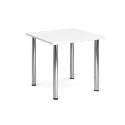 Rectangular Chrome Leg Flexi-Table White H:725 W:800 D:800