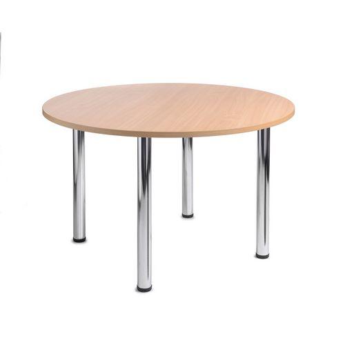 Turin Round Meeting Leisure Table Beech H:725 Dia:1200