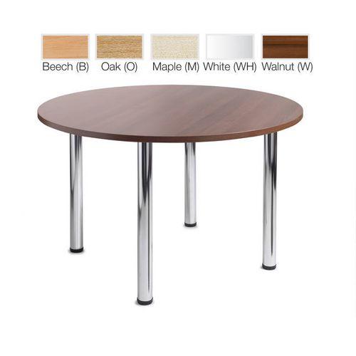 Turin Round Meeting Leisure Table Maple H:725 Dia:1200