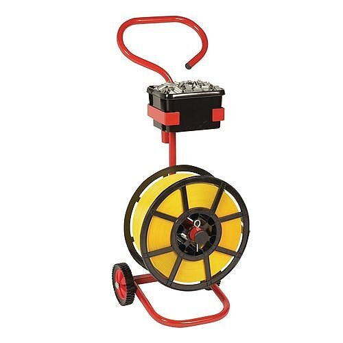 Mobile Disperser For Strapping On a Plastic Reel