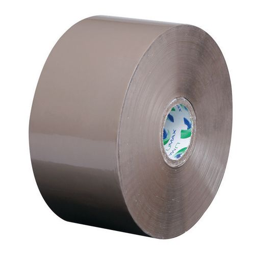Umax Packing Tape Polypropylene Low Noise 48mmx150Mtr 25Mu Buff 25mm Core